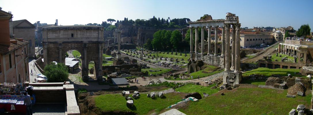 Mattina di primavera al Foro Romano