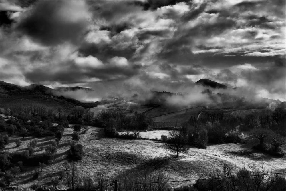 Mattino sulla valle ustica