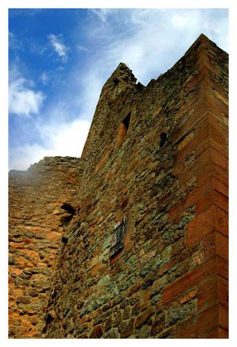 Mauer der Burg Windeck