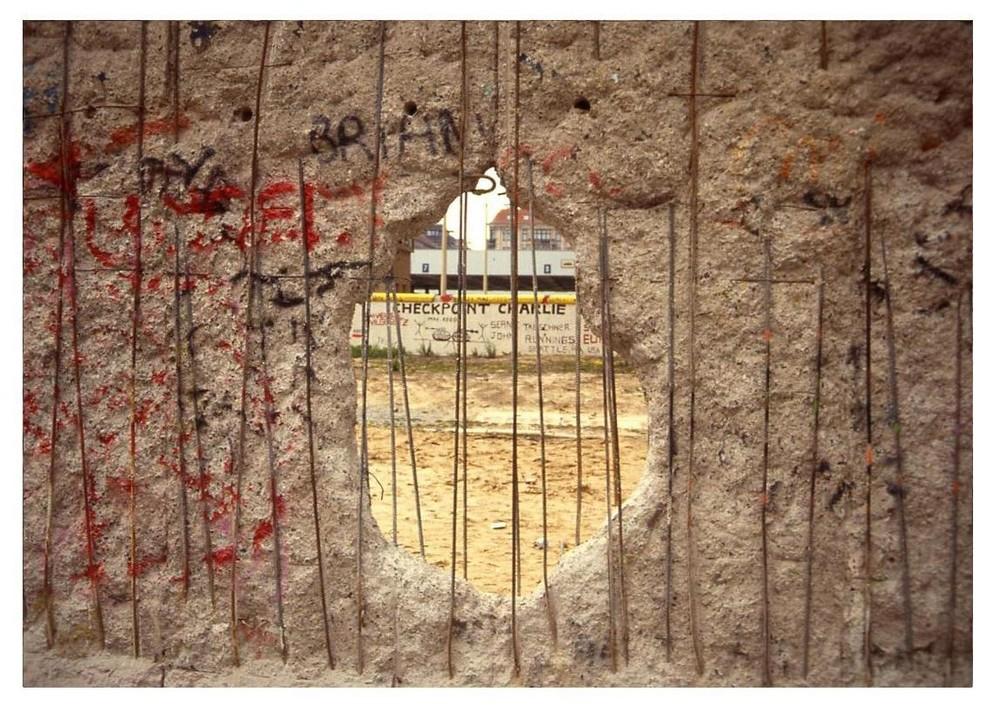 Mauer-Spechte am Checkpoint