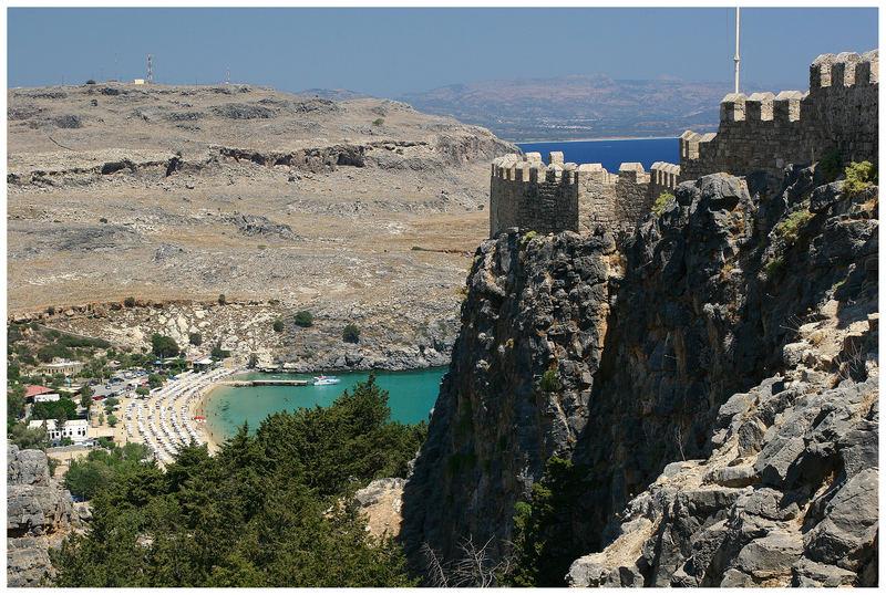 Mauern der Akropolis in Lindos