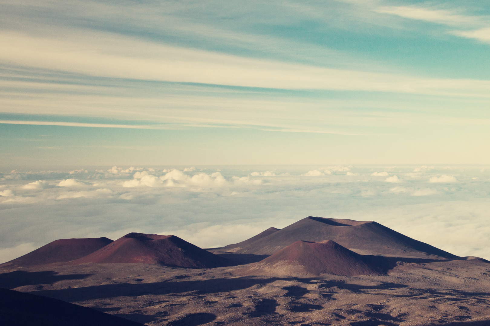 Mauna Kea - somewhere over the clouds...