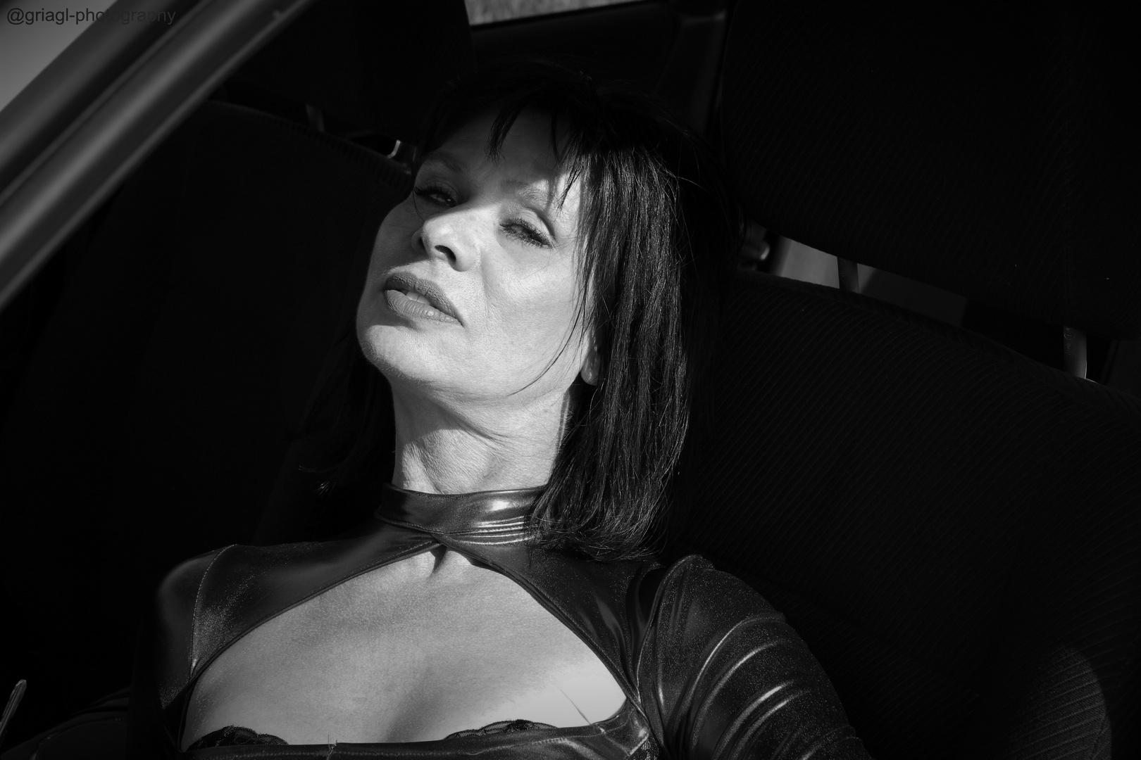 Maureen on my car iV