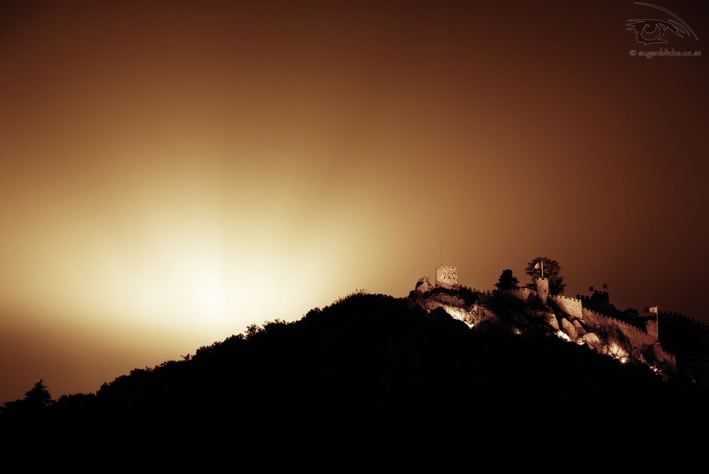 Maurenburg in Sintra bei Nacht