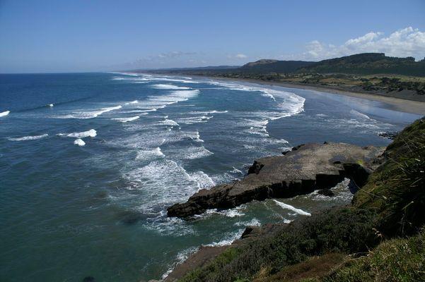 Mauriwai Beach (Nouvelle Zélande)
