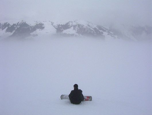Max im Schnee-Himmel
