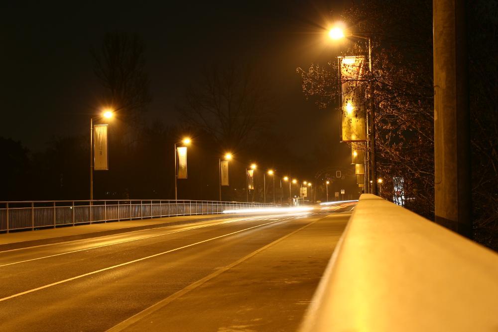 Maxbrücke Schweinfurt bei Nacht