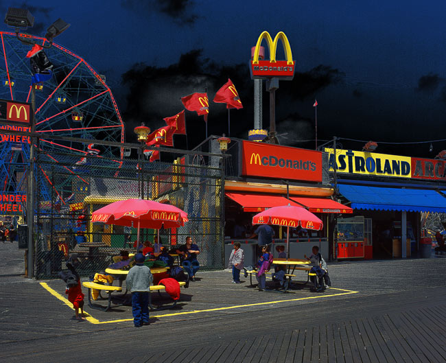 McDonalds auf Coney Island, NY