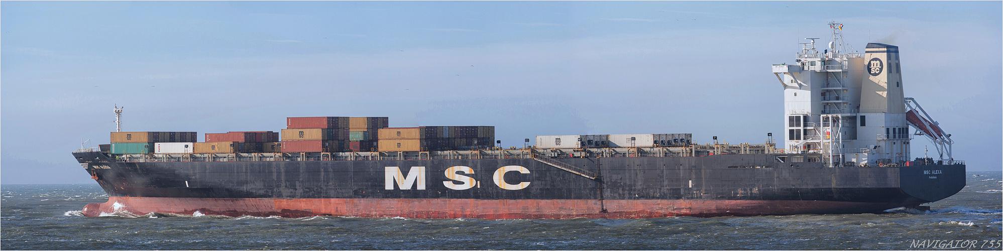 MCS Alexa / Containership / Rotterdam / 23.10.2013 /  Bitte scrollen!