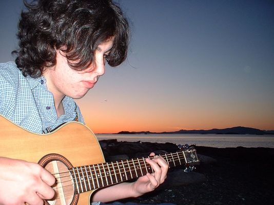 me, my guitar, and my beach