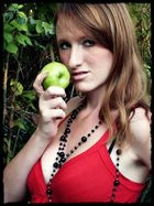 ME with a apple..