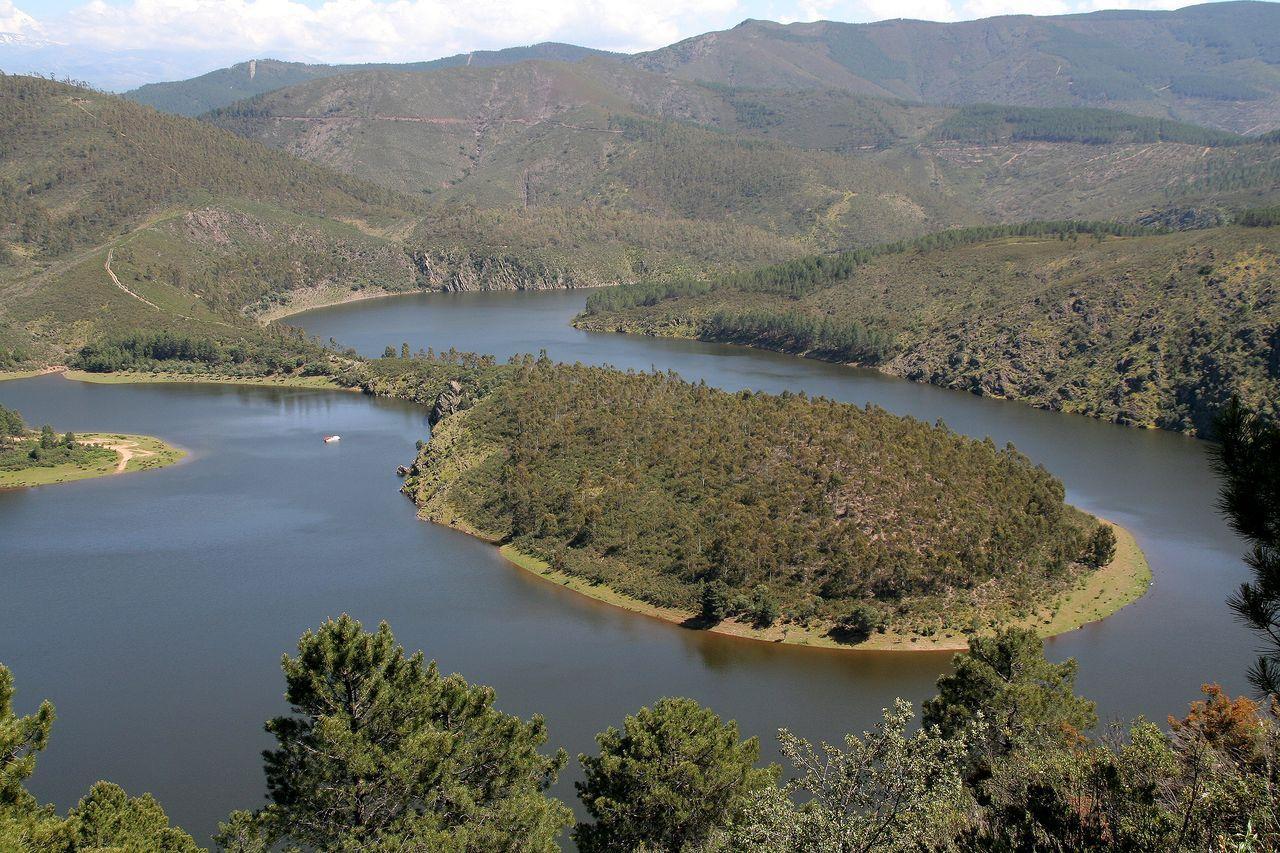 Meandro del río Alagón en Ríomalo de Abajo (Cáceres/Extremadura)