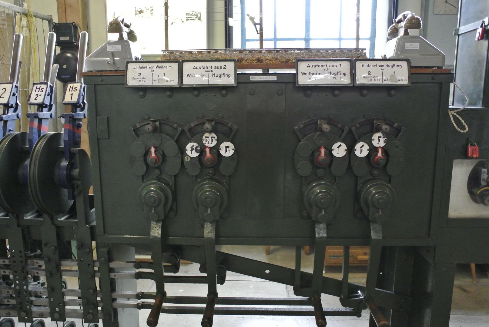 Mechanisches Gleisstellwerk Baujahr 1925