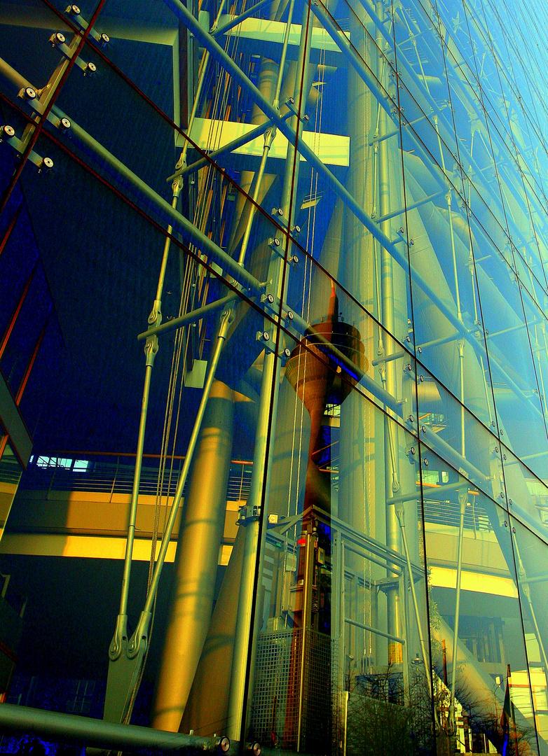 Medienhafen Düsseldorf Rheinturm Stadttor