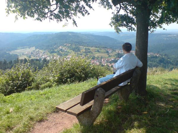 Méditation et/ou contemplation... depuis le rocher de Dabo