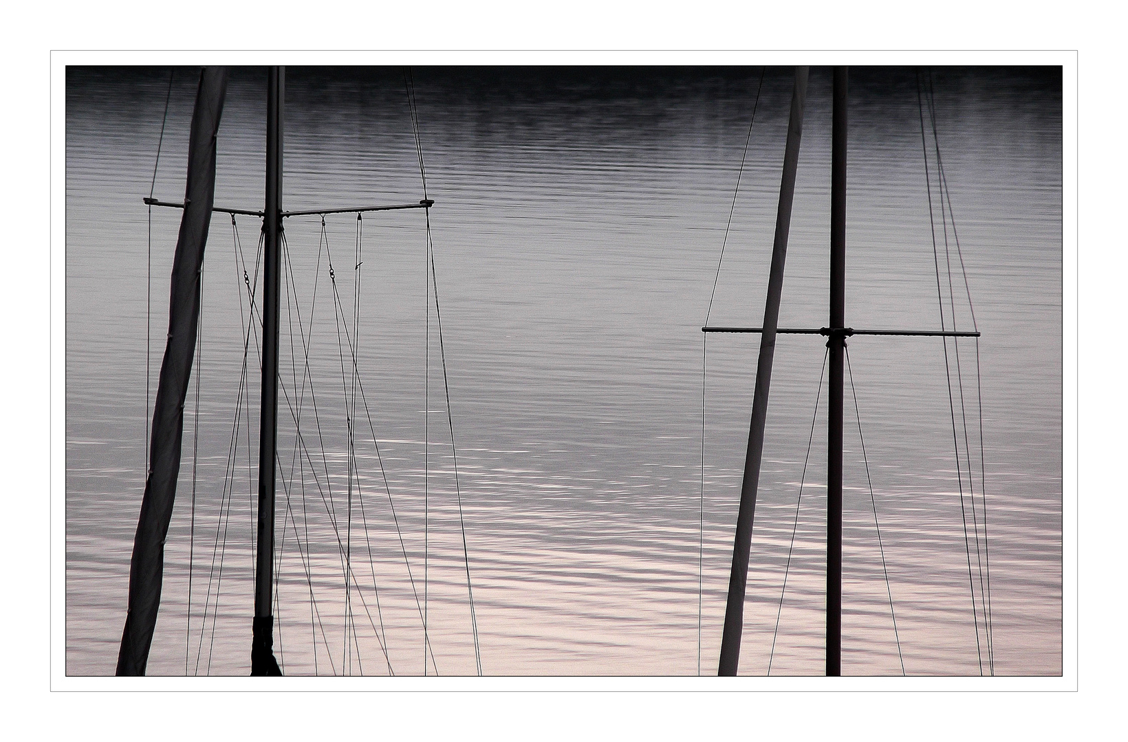 meditative Linen eines grauen Tages