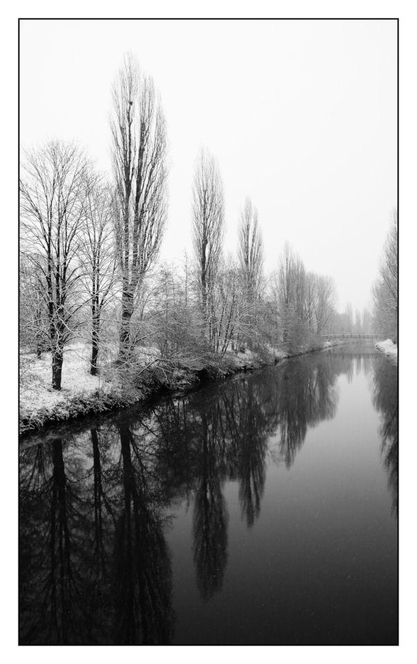 Meditative winterliche Ruhe