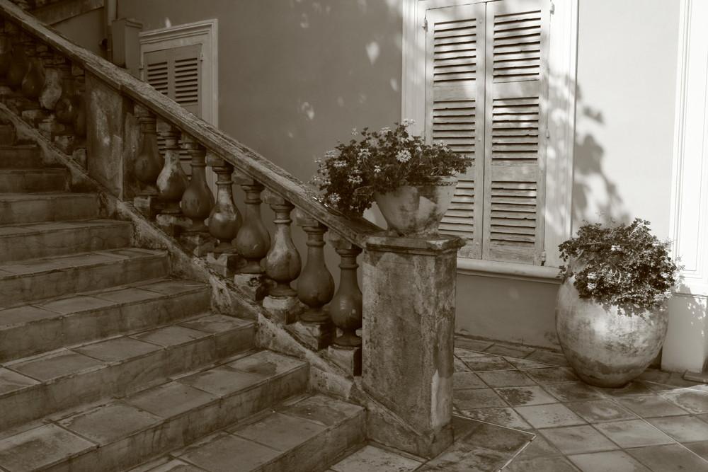 mediterane Treppe.