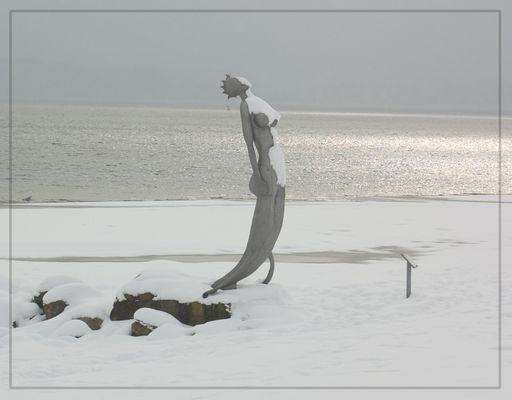 Meerjungfrau am Ostseestrand