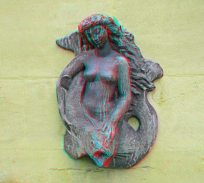 Meerjungfrau mit Fisch (3D ana)