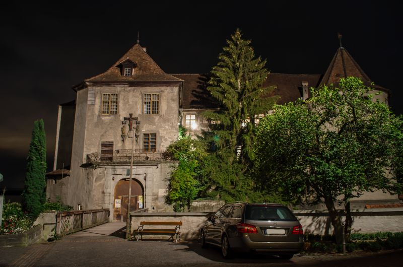 Meersburg bei Nacht