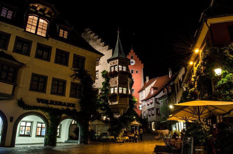 Meersburger Innenstadt bei Nacht