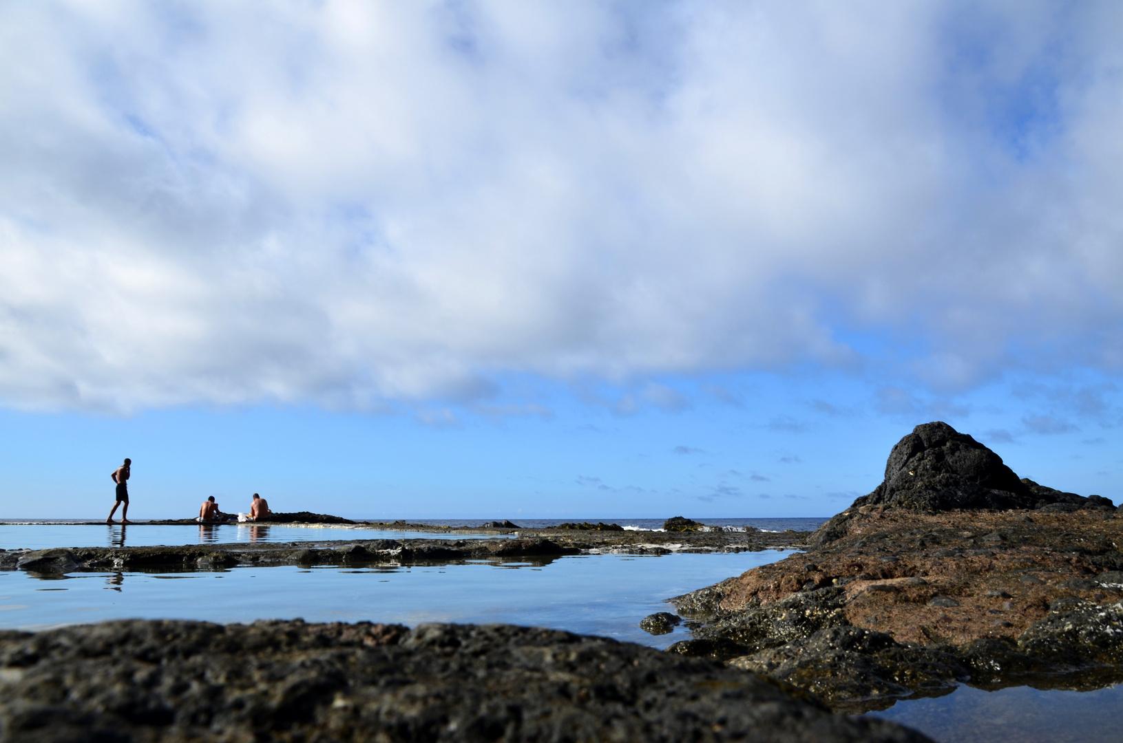 Meerwasserbecken in Hermigua