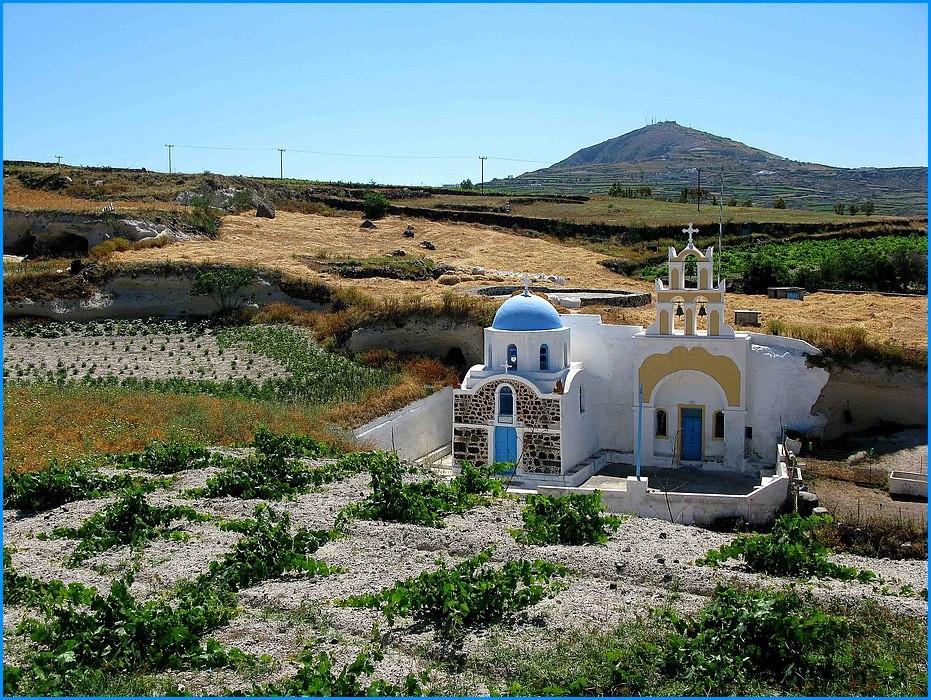 Megalochori Santorini Kykladen