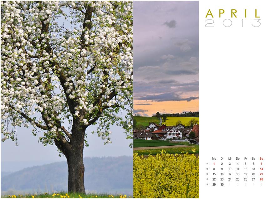 Mein April ..
