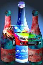 Mein Auto und die Sektflasche