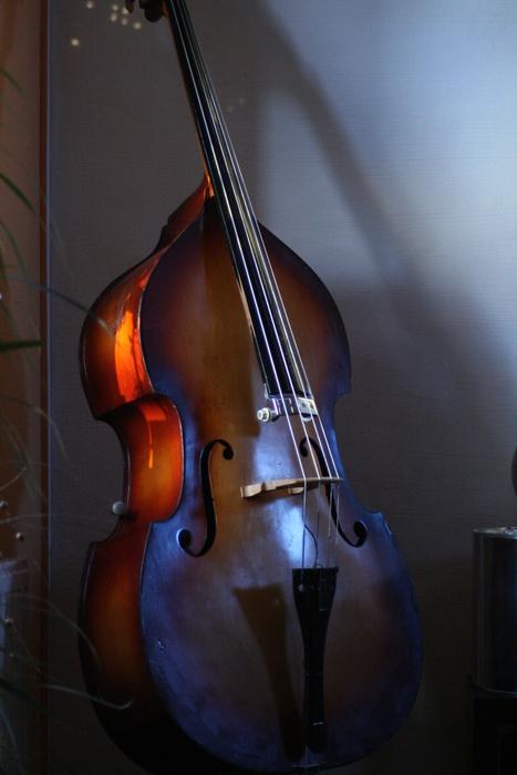 Mein Bass im spiel des Lichts