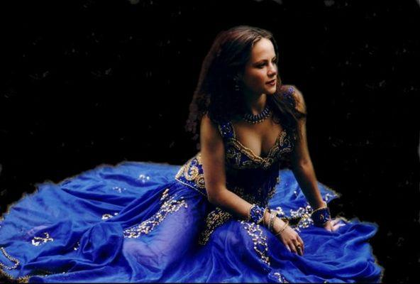 mein blaues kostüm...