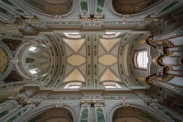 """Mein """"Blick nach oben"""" in der Jesuitenkirche (Mannheim)"""