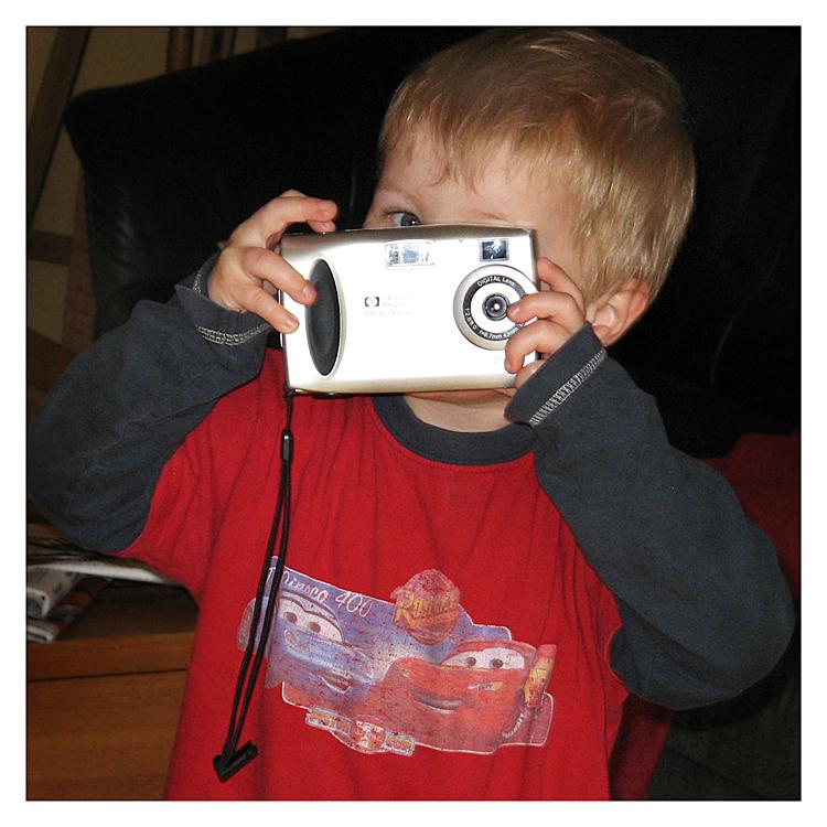 Mein Bruder hat auch eine Kamera