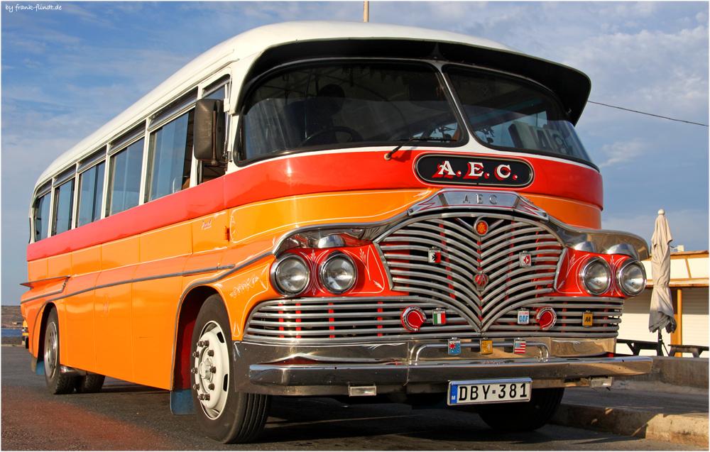Mein Bus zurueck....