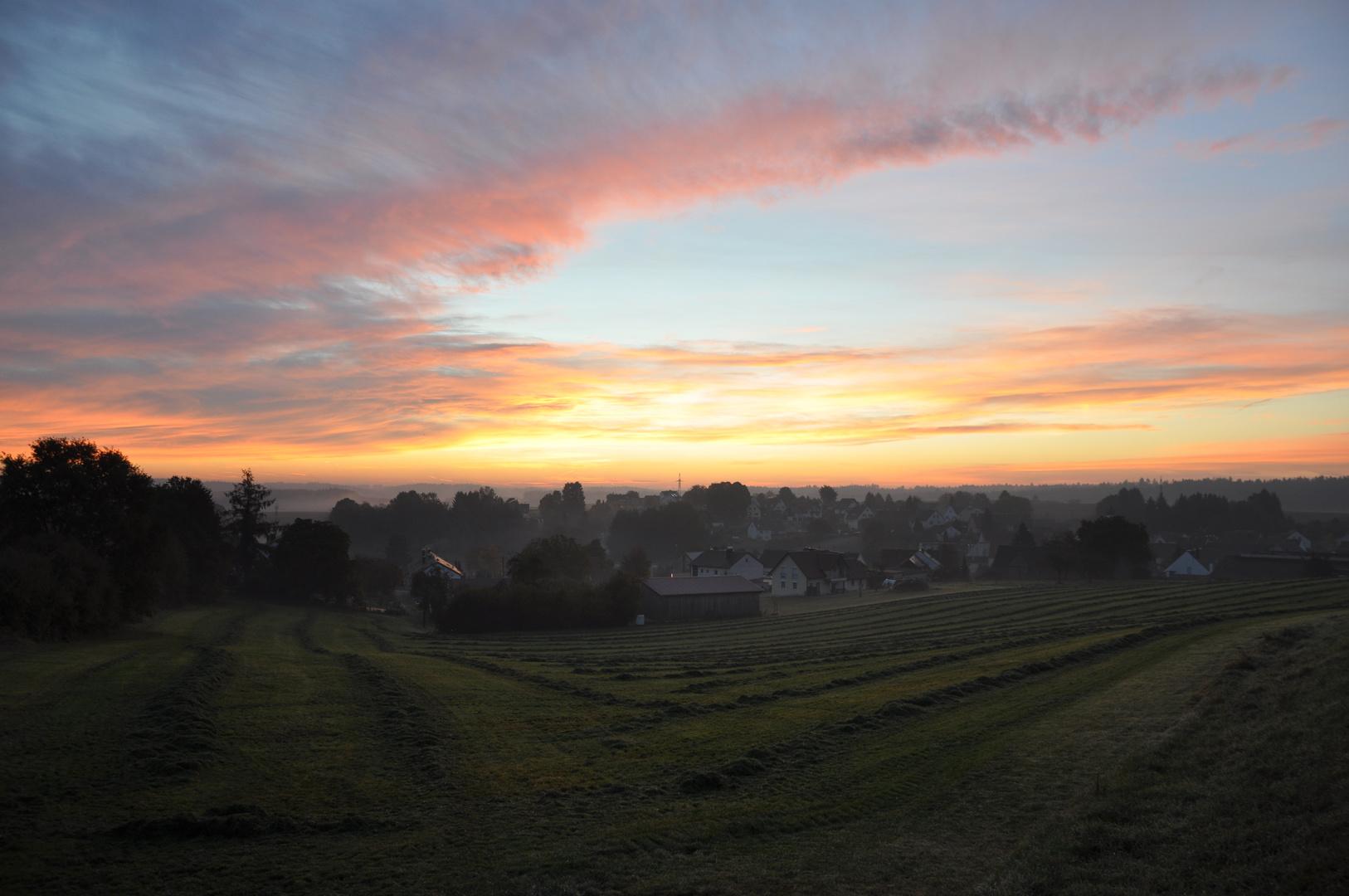Mein Dorf im Morgenlicht