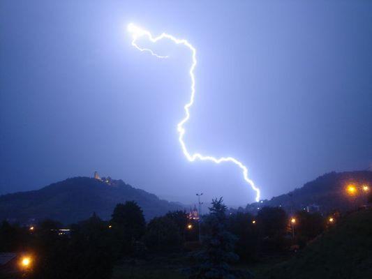 mein erster Blitz :-)