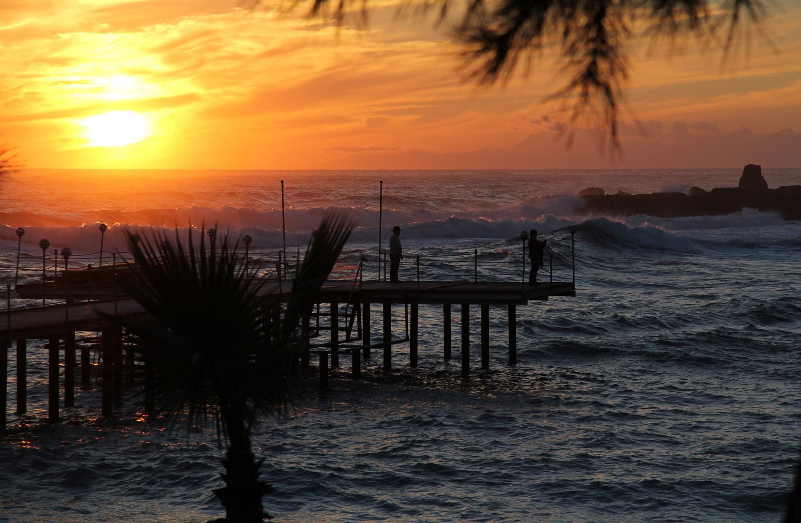 Mein erster Sonnenuntergang in der Türkei (Incekum)