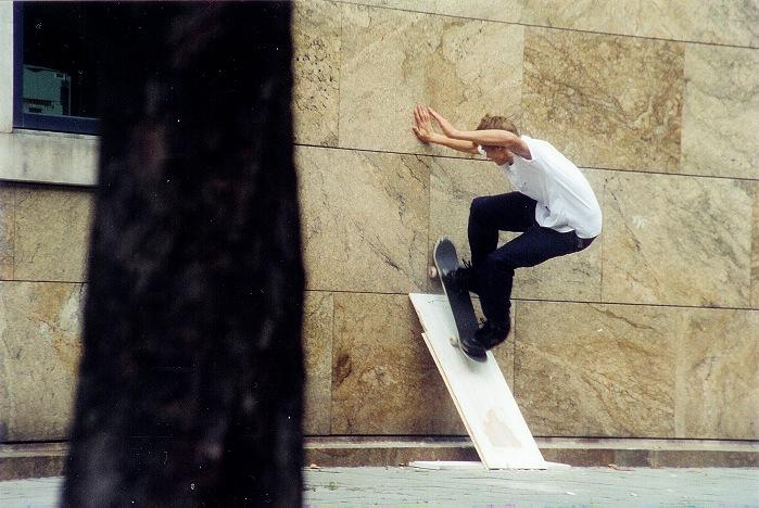 Mein erstes Analog-Skatefoto......