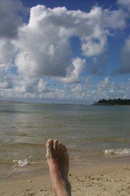 Mein Fuss am Strand