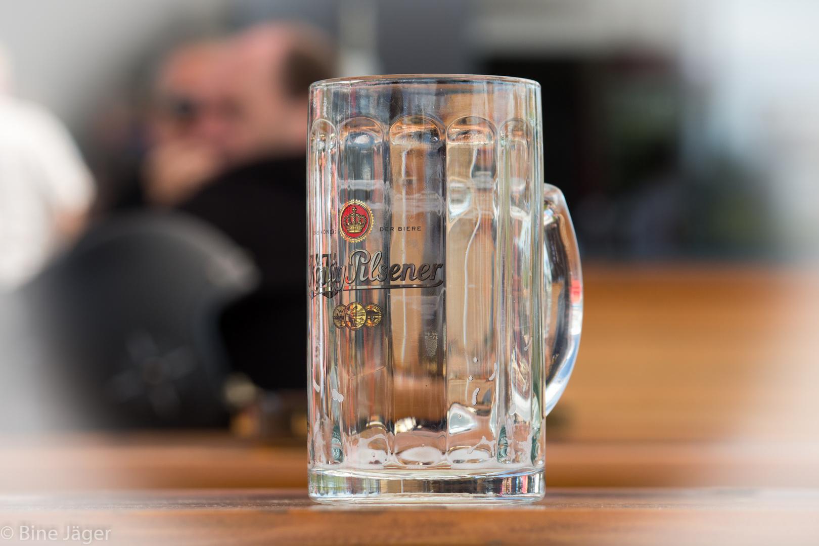 mein Glas ist leer