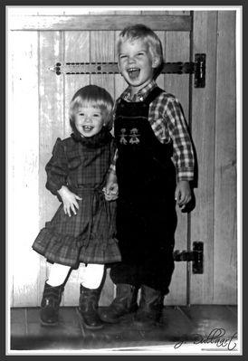 Mein grosser Bruder & ich,.... vor 24 Jahren !