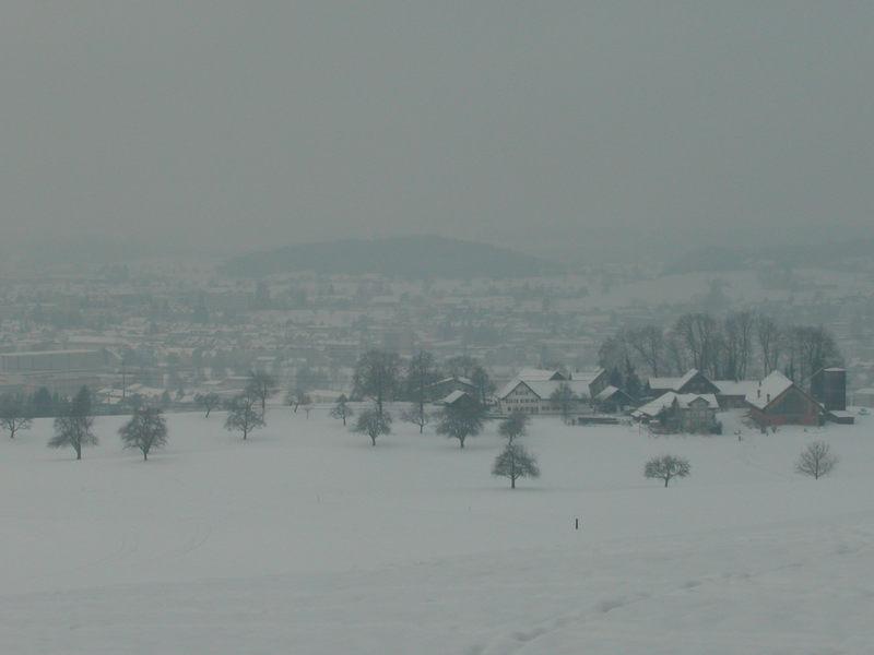 Mein Heimatort im Winter