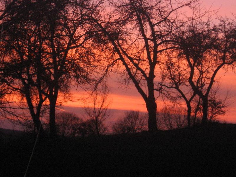 Mein Internats Sonnenaufgang