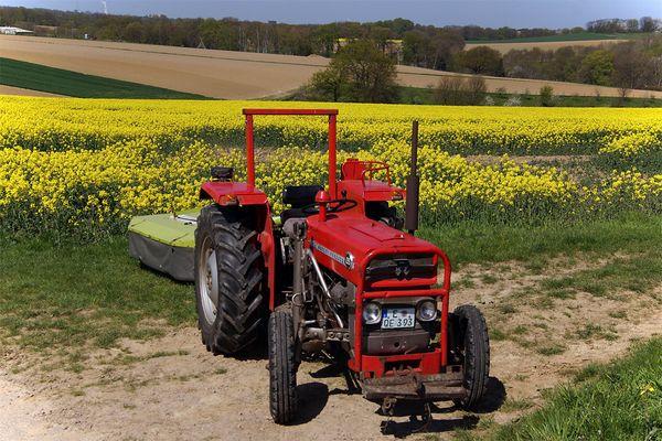 Mein kleiner roter Traktor.