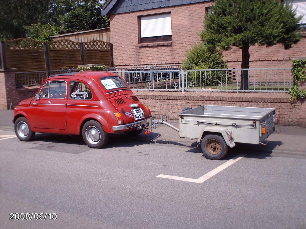 """Mein kleiner """"Selbstmörder"""" Fiat 500 mit HÄNGER"""
