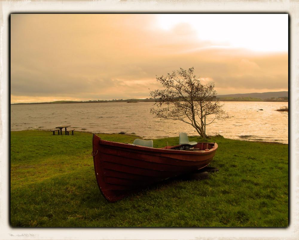 Mein kleines rotes Ruderboot ...