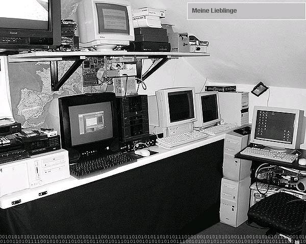 """mein """"labor"""" - ein altes bild aus dem jahr 1999"""