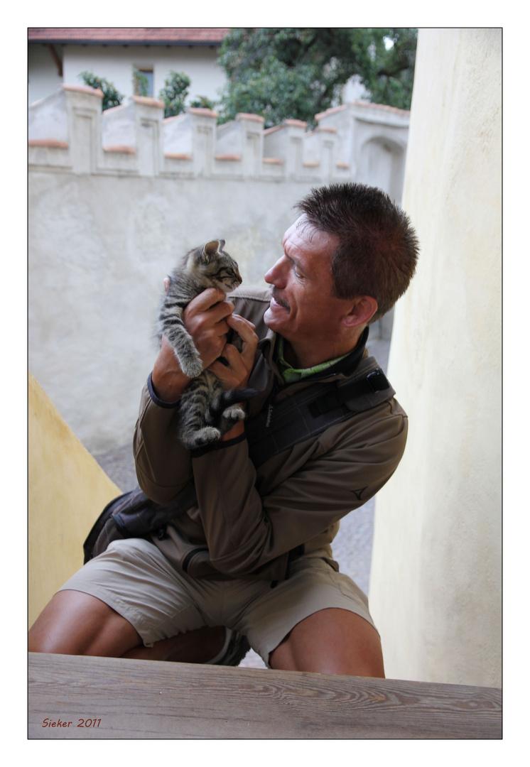 Mein Mann und das Kätzchen ...