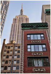 Mein morgendlicher Blick aus dem Fenster des Hotel Wolcott, W 31st St, NYC